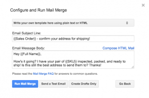 gmail mail merge address confirm